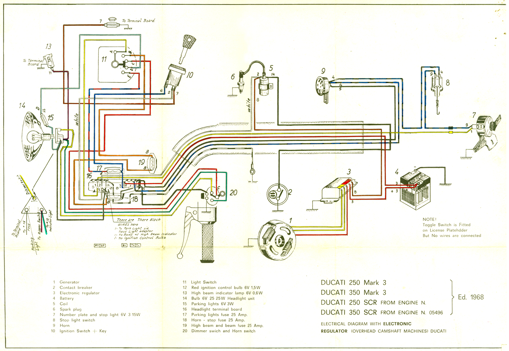 Ducati Singles Technical Information By Set 3 Light Wire Schematic Widecase 1 2
